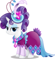 Rarity in Gala Dress (With Shading) by InfiniteWarlock