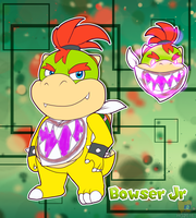 AU Bowser Jr refrence and info by HG-The-Hamster