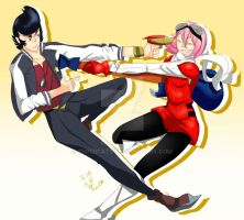 Haruka Vs Dandy by supercat97
