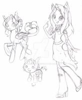 Harvest Moon Sketch Ref WIP? by MoesArts