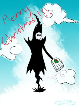 Death: Christmas card by I-Walk-In-Air