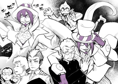 Blue Exorcist character sketches 2 by JadeGL