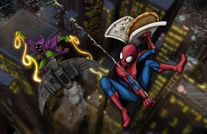 Spider-Man vs. Green Goblin by simonwilchesc