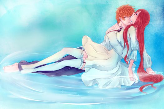 IchiHime: Protector by Iwonn