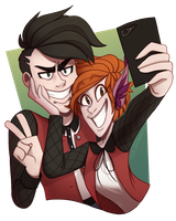 [CM] Ryker and Bex [+SPEEDPAINT] by TheZodiacLord