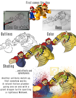 Mario: The Final Showdown (Process) by smthcrim89