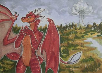 Nuclear [aceo] by DragonisLera