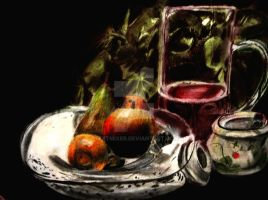 realistic still life drawing colored pencil by textmixer