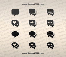 12 Chat PS Custom Shapes by Shapes4FREE