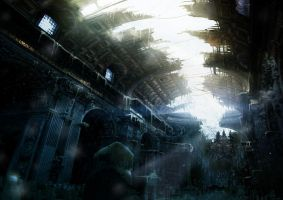 Matte Painting 'Paranoia' n3 by Grivetart