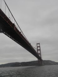 Grey Skies - Golden Gate Bridge by Lain3y