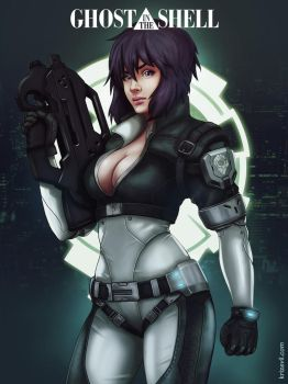 Major Motoko Kusanagi by KrizEvil