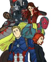 New Avengers by pencilHead7