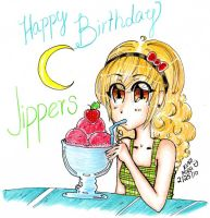 Happy -Late- Birthday Jippers by kuri-mira-chan