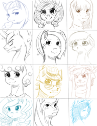 Give Away Bust Sketches 2 by quila111