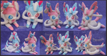 Sylveon  - handmade plushies by Piquipauparro