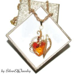 Heart of Fire pendant by Lyriel-MoonShadow