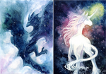 Nebulawing And Galacticorn by Calluna-Draconis