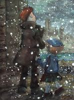 Layton Says Goodbye by Spiccan