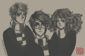 The Golden Trio by Ggreengiie