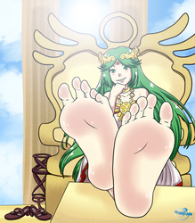 :Collab: Palutena's Feet PoV (+Alts) by Soleful-Jane