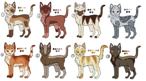 CLOSED Cat Adoptables by drawingwolf17