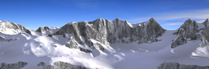 Mountain with snow WIP by brektzar