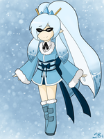 Winter- Themed Inkling by ReshiraDragon
