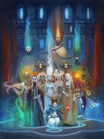 Grand Council of the Witches: Arrival by Lyuleo