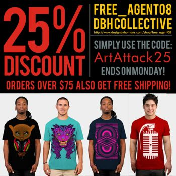 25 % OFF DBH TEES by freeagent08