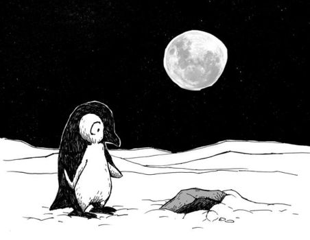Lonely penguin no.4 by Hoed