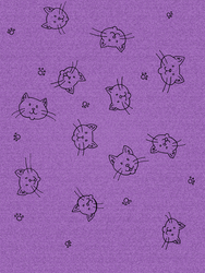 Printable: Purple Kitty Doodle Scrapbook Paper by akaLOLCat