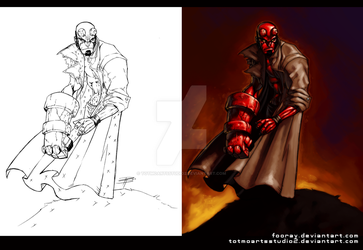 HELLBOY_for_fooray by totmoartsstudio2