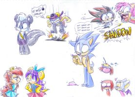 Sonickids doodles by vaporotem