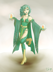 Rydia, The Summoner of Mist by TheCatlady