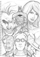 Batman Villains Sketch by TruZe