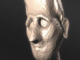 3D Stone Face by Dremin