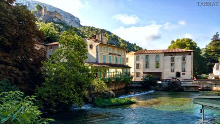 Postcard from Fontaine de Vaucluse by TAK-KAT