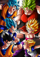 [DBS] Clash Of The Saiyans by Cheetah-King