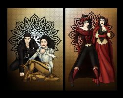 The Rebels and the Ice Queen - Diptych by CatAstropheBoxes