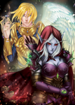 Two sides - Sylvanas and Anduin by FKDemetri