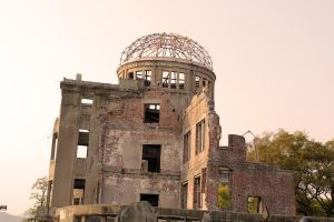 A-Bomb Dome, Red Filter by firenze-design
