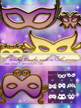 Mardi Grass Masks Brushes by Coby17