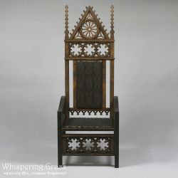 BJD Gothic Demountable Doll Throne by scargeear