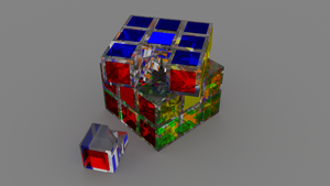 Full Glass Rubik's Cube by adriens33