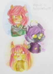 Dawn, Dusk, and Sunny by ShanaleiaArts