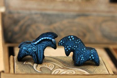 Gift for Cameron - two direhorses by hontor