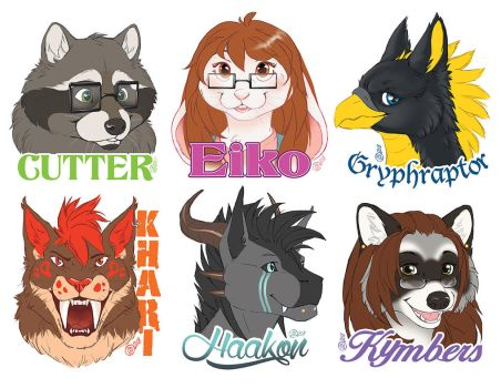 Flat Color Badges - 2018 by GoldenDruid