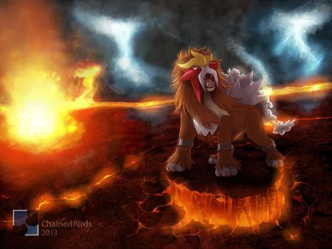 Entei, the Legendary by ChainedBirds