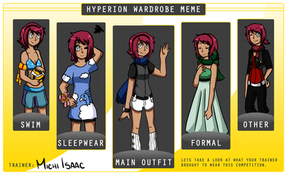 HC- Michi's Wardrobe Meme by SleepySketchu